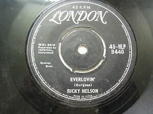 RICK-NELSON-RICKY-45-HLP-9440-BLACK-RARE-SINGLE-7-034-45-RPM-INDIA-INDIAN-VG
