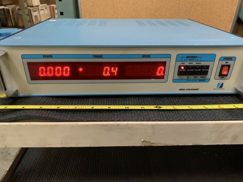 Magtrol, Inc. 5420 Readout for Dynamometer Tested Powers On, Owned By NASA