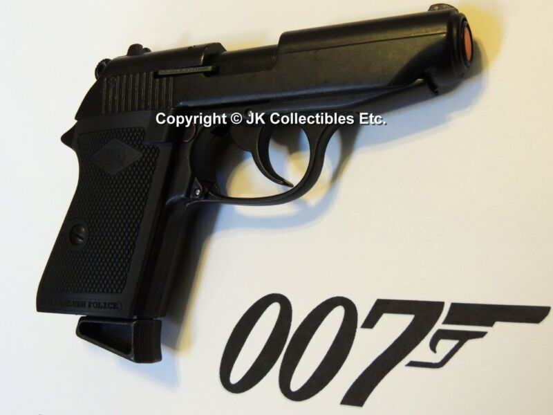 Bruni 007 Replica Walther PPK James Bond Skyfall 8mm Automatic Pistol Prop Gun