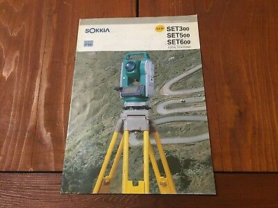 Sokkia Set 300 500 600 Total Station Detailed Brochure Surveyor