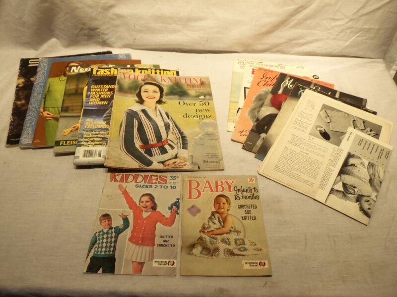 Lot Vintage Knitting Craft Books Magazines - Vogue Knitting  Babies  Infant Wear