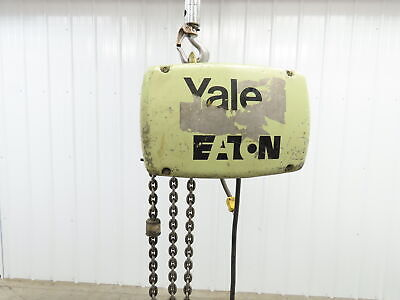 Yale 1 Ton 2000 Lb Electric Chain Hoist 14 Lift 16 Fpm. 1hp 115230v 1ph