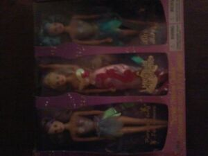 Set of Barbie like doll's with 2 fairies & 1 mermaid brand new