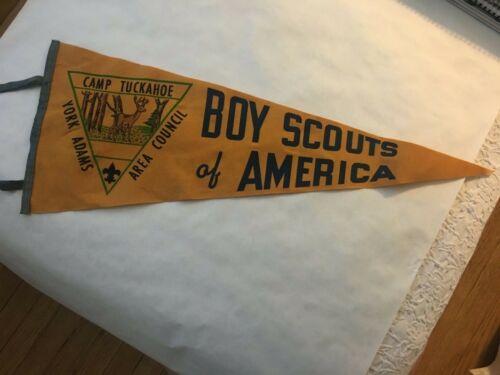 Boy Scouts of America, Camp Tuckahoe, Vintage Pennant (1960s)
