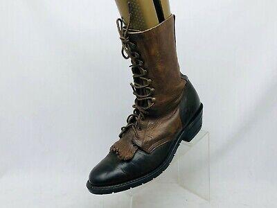 Double H Brown Leather Kilt Laces Cowboy Packer Logger Boots Mens Size 11.5 D