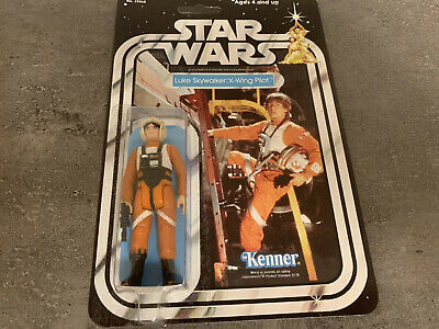 vintage Star Wars Luke Skywalker X-Wing Pilot Resealed With Repro Blaster/card