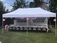 10 x 20 FT TENT FOR RENT / EVENT TENT RENTAL WITH SIDE WALLS