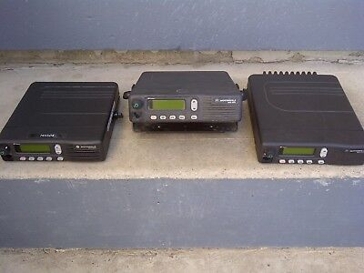 3 Motorola Mcs2000 Mobile Radio M01hx812w Lot City Surplus