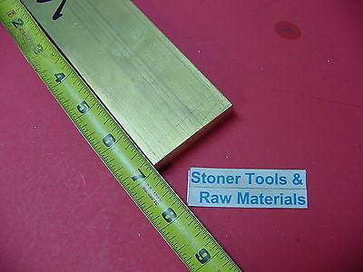 12 X 2 C360 Brass Flat Bar 7 Long Solid .50x 2.00 Plate Mill Stock H02