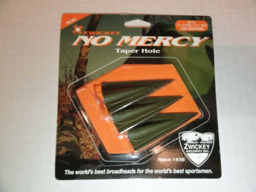 Zwickey No Mercy 2 Blade Glue On Broadheads - Double, Left, or Right Bevel