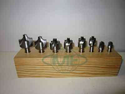 8 pcs M2-HSS 4 flute 1/16-3/8 Corner Rounding End Mills set--New