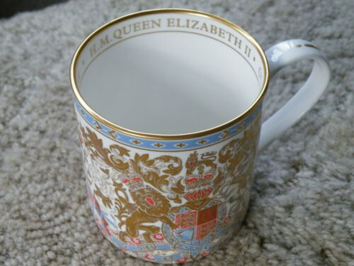 Royal Collection Trust Mug Cup Queen Elizabeth English Bone China Lion Crest