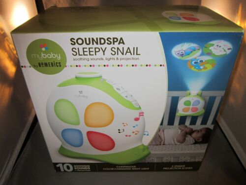My Baby by Homedics Soundspa Sleepy Snail Lullaby Sounds and Projection NEW