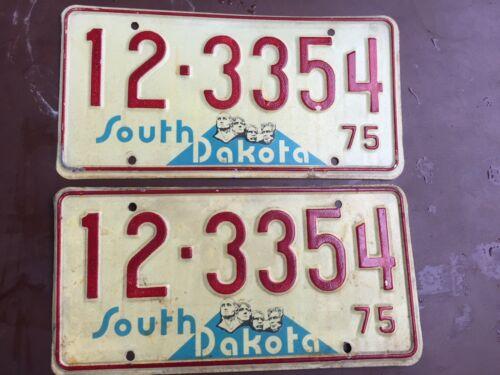 1975  Matched pair Bon Homme  County South Dakota  license plates
