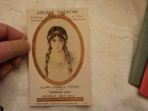 VINTAGE POSTCARD CLARA KIMBALL YOUNG IN THE COMMON LAW ARCADE THEATRE WAYNESBORO