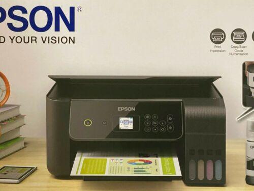 NEW Epson EcoTank ET-2720 Wireless Color Printer Scanner Copier w Ink ✅ BLACK