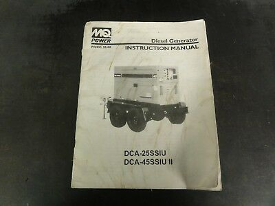 Multiquip Dca-25ssiu Dca-45ssiu Ii Diesel Generator Instruction Manual