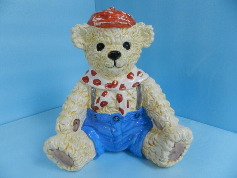 Vintage Teddy Bear Cookie Jar Heritage Mint Ltd. with Asian Marking