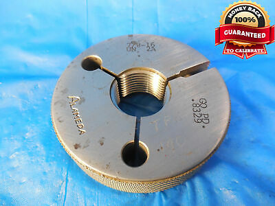 78 16 Un 2a Thread Ring Gage .875 Go Only P.d. .8329 N-2a .8750-16 Inspection