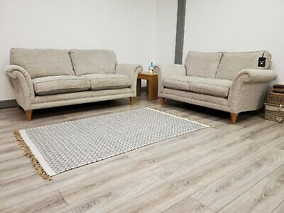 PARKER KNOLL BURGHLEY 3 SEATER & 2 SEATER SOFAS RRP £3098.00