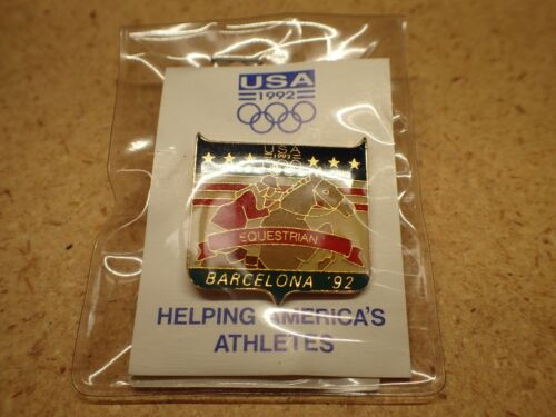 Barcelona Equestrian Olympic 1992 lapel pin, new