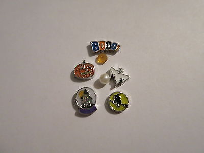 WITCH BOO GHOST PUMPKIN HALLOWEEN FLOATING CHARMS SET FOR LIVING MEMORY LOCKET (Boo Pumpkin)