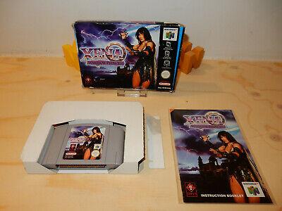 PAL N64: Xena Warrior Princess (OK) Complete OVP Box Boxed Manual Nintendo 64