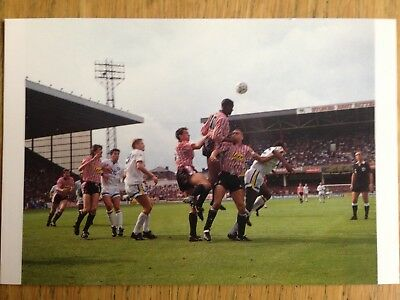 Sheffield United v Leeds United 1990 postcard