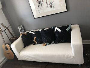 Canapé en tissu + 2 autres housses - 375$