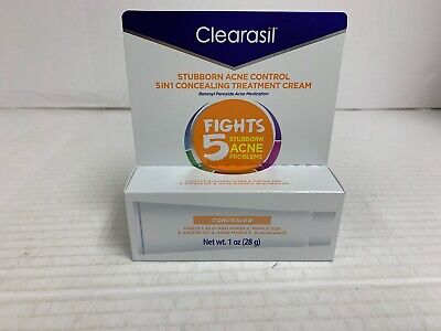 New Clearasil Daily Clear Tinted Acne Treatment Cream 1.0oz W/Concealer 08/2021