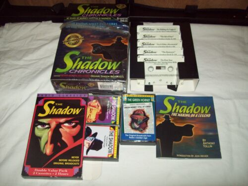 The Shadow Chronicles 7 cassettes + book Pulp Classics