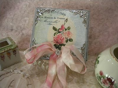 Shabby Chic Square Decorative Box Vintage Paris