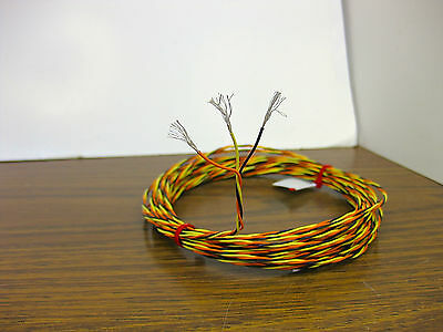 25 Feet 24 Awg Silver Plated Wire 3 Twisted Kynar Spc