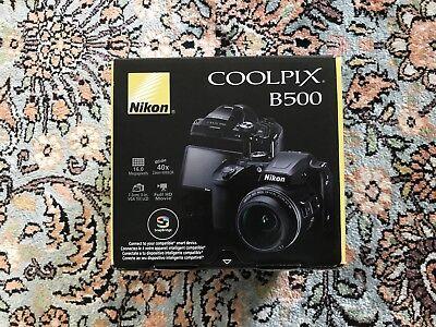 Brand New Nikon Coolpix B500 Digital Camera- 16MP 40x Optical Zoom HD  Black