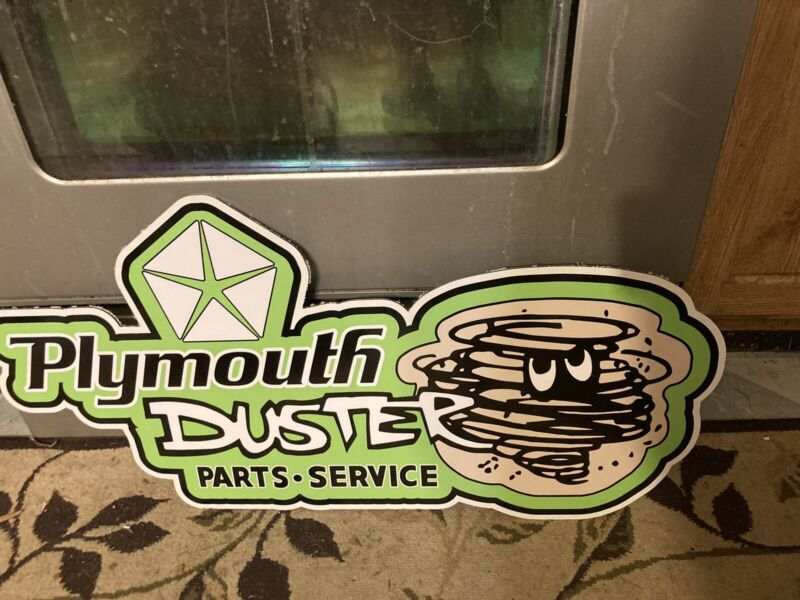 PLYMOUTH DUSTER SIGN Green
