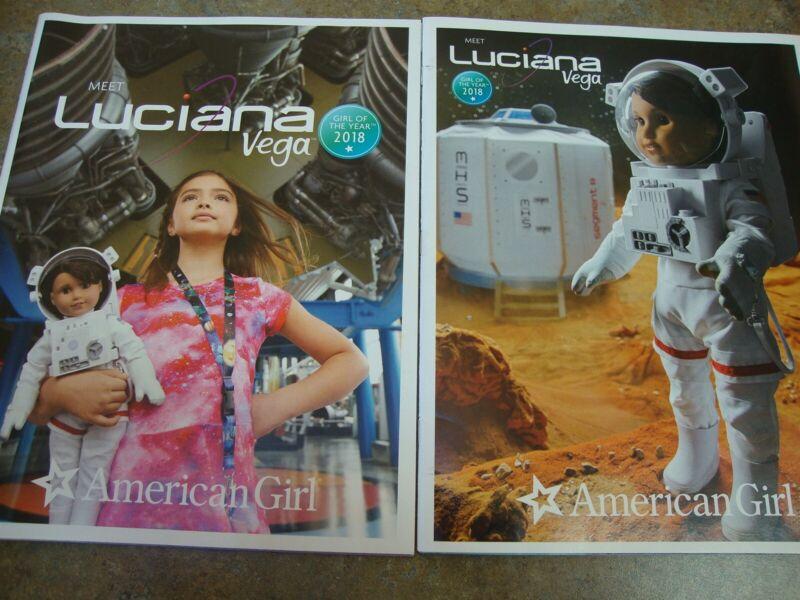 2 AMERICAN GIRL CATALOG 2018 LUCIANA VEGA Girl of the Year DOLL