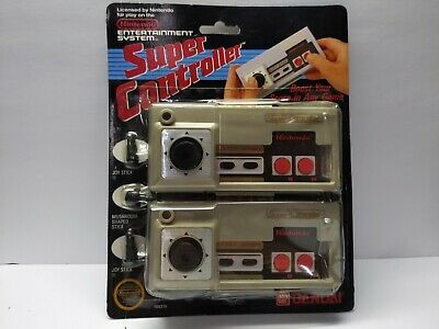 NES SUPER CONTROLLER FACTORY SEALED Overlay 1986 Nintendo Bandai Joystick Vtg