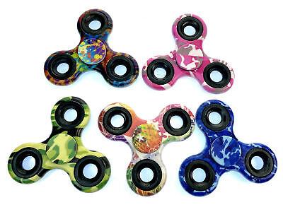 5 PACK Hand Spinner Tri Fidget Spinner Ceramic Focus Toy Kids/Adult 5-Multi
