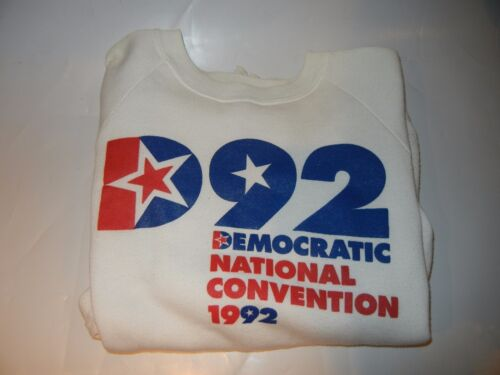 1992 DEMOCRATIC NATIONAL CONVENTION WHITE SWEATSHIRT SIZE LARGE