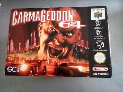 Nintendo N64 Game Carmageddon PAL. TESTED