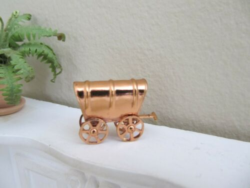 Dollhouse Miniature 1:12 Vintage Tynietoy Copper Covered Wagon Toy