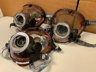 New Scott Av-2000 Firefighter Scba Facepiece Full Face Respirator Mask Xlarge