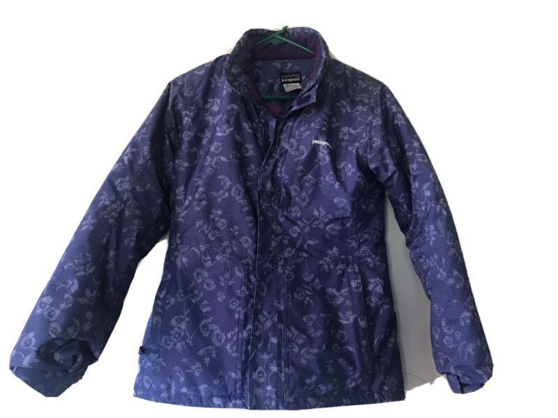 Patagonia Jacket Coat Girls Kids Size XL 14 Quilted,Floral Design,Ski, Winter