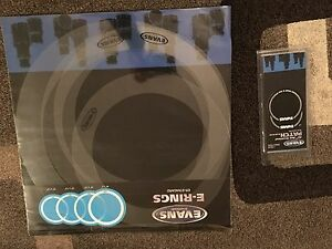 Evans drum heads and accessories