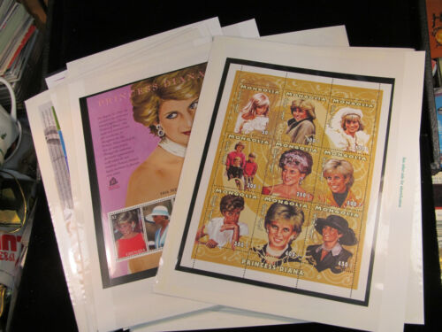 LOT OF 27  Princess Diana Collection from Mystic Stamp Company Mint Sheets DIFF.