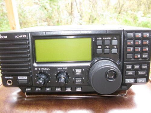 ICOM IC R-75  Communications Receiver S-AM