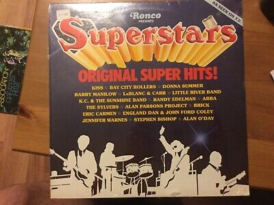Ronco (Hits Compilations) Superstars LP SEALED: Kiss/ Donna Summer/ ABBA/ etc..