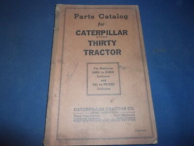 Cat Caterpillar Thirty Tractor Parts Book Manual S4683-s10536 Ps1-ps13285
