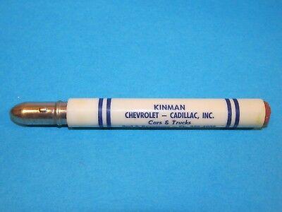 Vintage Original KINMAN Chevrolet Cadillac Automobile Bullet Pencil Nebraska GM