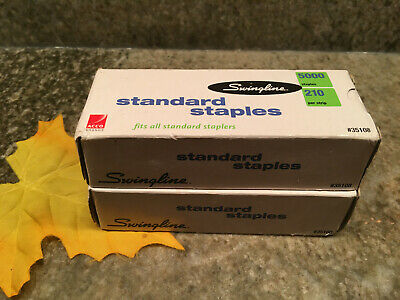 New 2 Box Pack Swingline Standard Staples 14 210strip 5000box 10000 Silver
